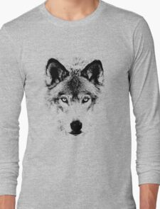 Wolf Face. Digital Wildlife Image. T-Shirt