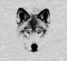 Wolf Face. Digital Wildlife Image. Hoodie