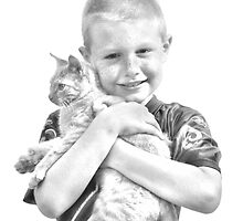 Kaleb and kitty by connie3107