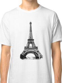 Eiffel Tower Digital Engraving Classic T-Shirt