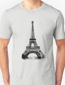 Eiffel Tower Digital Engraving Unisex T-Shirt