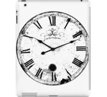 Antique and Vintage Clock Digital Engraving Image iPad Case/Skin