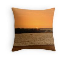 Sunset from Fort Myers beach, Florida Throw Pillow