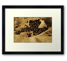Coffee beans Framed Print