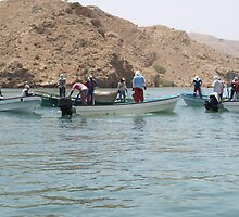 Co-operative sardine fishing in Oman by DeborahDinah