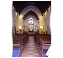 Main Aisle, St. John's Anglican Church, Fremantle Poster