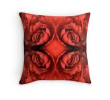 Red Begonia Montage Throw Pillow