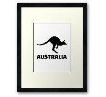 Australia kangaroo Framed Print