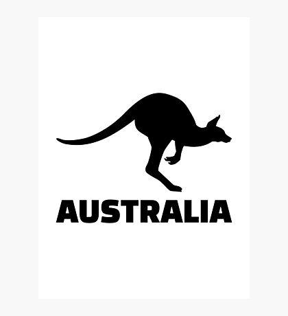 Australia kangaroo Photographic Print
