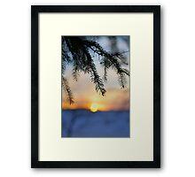 Sunset Doesn't Wait Framed Print