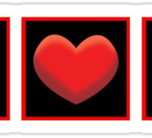 I HEART UFOs Sticker