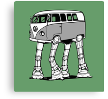 VW Bus AT-AT Imperial Walker Canvas Print