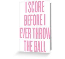 Score Greeting Card