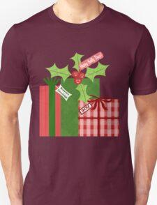 Whimsical Christmas Holly T-Shirt T-Shirt