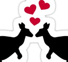 Kangaroos red hearts love Sticker