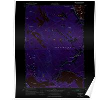 Maine USGS Historical Map Red Beach 460801 1949 24000 Inversion Poster