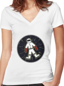 AstroNought [Big] Women's Fitted V-Neck T-Shirt