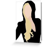 Lady Gaga Versace Greeting Card