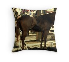 Cavalry Steed Throw Pillow