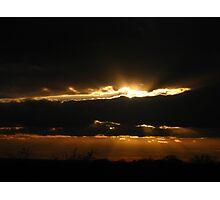 Old Redding Sunset Photographic Print