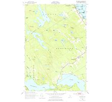 Maine USGS Historical Map Red Beach 460801 1949 24000 Photographic Print