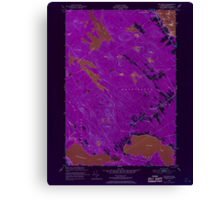 Maine USGS Historical Map Red Beach 807094 1949 24000 Inversion Canvas Print