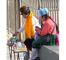 Street Vendors in Quito Photographic Print