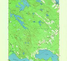 Maine USGS Historical Map Red Beach 807094 1949 24000 by wetdryvac