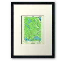 Maine USGS Historical Map Red Beach 807094 1949 24000 Framed Print
