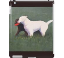 labrador retrievers with red frisbee iPad Case/Skin