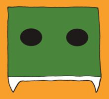 fanged square: green by kangarookid