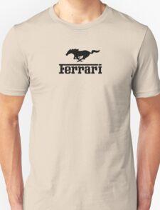 Ferrari Mustang Parody - Black T-Shirt