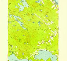 Maine USGS Historical Map Red Beach 807095 1949 24000 by wetdryvac