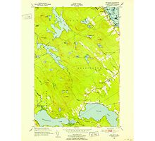 Maine USGS Historical Map Red Beach 807095 1949 24000 Photographic Print