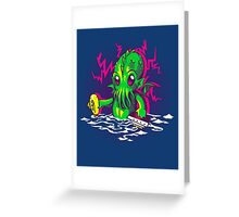 Little Cthulhu Greeting Card