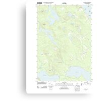Maine USGS Historical Map Red Beach 20110829 TM Canvas Print