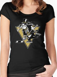 Go Penguin GO! Women's Fitted Scoop T-Shirt