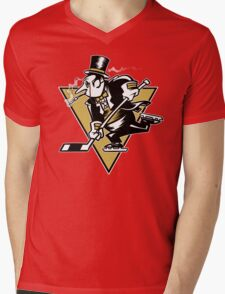 Go Penguin GO! Mens V-Neck T-Shirt