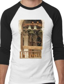 """For Whom the Bell Tolls"" at Rila Monastery, Bulgaria Men's Baseball ¾ T-Shirt"