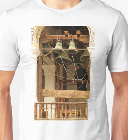 """""""For Whom the Bell Tolls"""" at Rila Monastery, Bulgaria Unisex T-Shirt"""