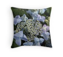 Blue Lace Hydrangea Throw Pillow