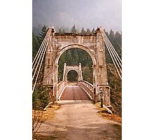 Alexandra Suspension Bridge Photographic Print