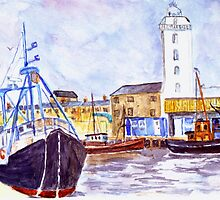 North Shields Fish Quay by GEORGE SANDERSON