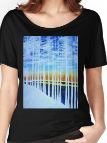 White Trees by the Lake Women's Relaxed Fit T-Shirt