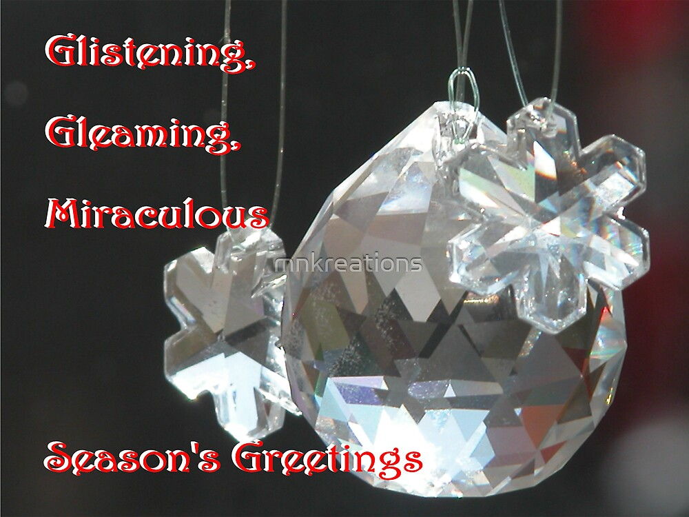Glistening, Gleaming, Glorious Miraculous Season by mnkreations