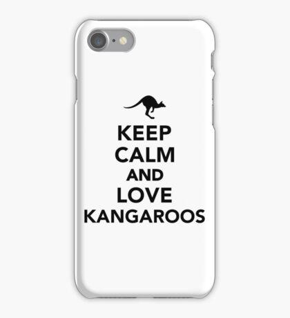 Keep calm and love Kangaroos iPhone Case/Skin