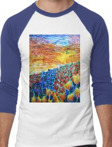 Tulip Sunset Men's Baseball ¾ T-Shirt