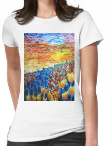 Tulip Sunset Womens Fitted T-Shirt