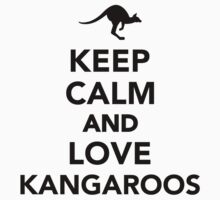 Keep calm and love Kangaroos Kids Clothes