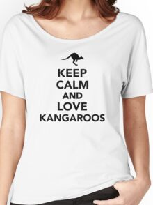Keep calm and love Kangaroos Women's Relaxed Fit T-Shirt